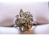 Bespoke Absolutely Incredible 18 Carat Gold Diamond Ring