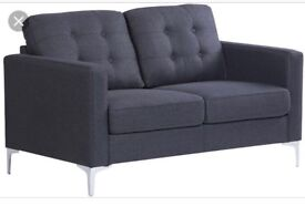 Brand New Grey Chesterfield Sofa