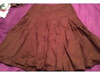 summer full circle brown skirt size 8 primark gypsy style new with tags