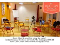 Meditation Classes (alternate Sunday Mornings) at Middlesex University
