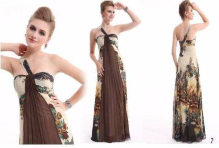 ALL STOCK MUST GO!!! Formal Brown Chiffon Evening Dress Size 12 Hamilton Brisbane North East Preview