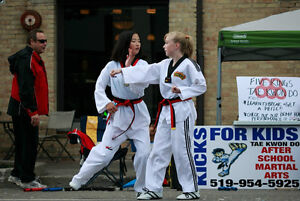Kicks for Kids After-School Martial Arts: We pick up at school! Kitchener / Waterloo Kitchener Area image 3