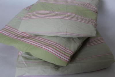 Serena Lily Nursery (SERENA & LILY Set/3 Baby Nursery Stripe FITTED CRIB SHEETS Sage Green/Pink (b4) )