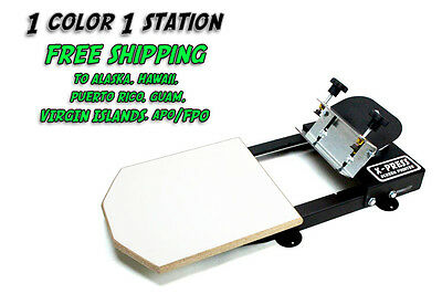 Silk Screen Printing Press 1 Color1station - Free Sh To Ak Hi Pr Gu Vi Ap