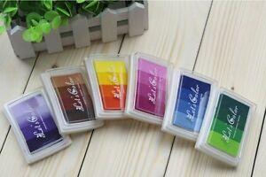 Stempelkissen Set 6 Teile Ink Pad Stempel Kissen bunt mehrfarbig 24 Farben DIY