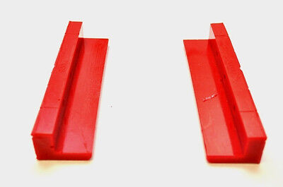 PROTHANE POLYURETHANE Vise  Vice Jaw Pad  Pads All Type Soft Grip Red