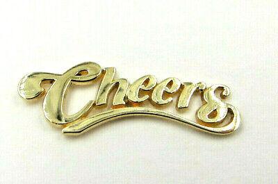 Genuine Tiffany & Co. 'CHEERS' Pin/Brooch 14K Gold Hallmarked  -  RARE ()