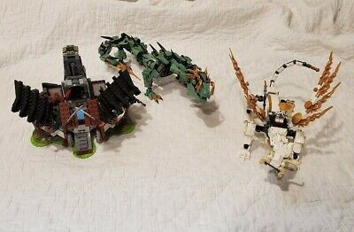 LEGO Ninjago Dragon LOT (3 sets) {98% complete} Dragons Forge, Green Dragon, etc
