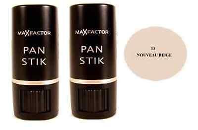 Max Factor Panstik Foundation - 13 Nouveau Beige, 9g (2 Pack)