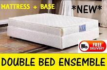 Brand New DOUBLE BED Ensemble - Pillow Top Mattress PLUS Bed Base New Farm Brisbane North East Preview