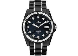 c0ff6a257 Bulova Men's 98D107 Marine Star Bracelet Mother of Pearl Dial Watch ...