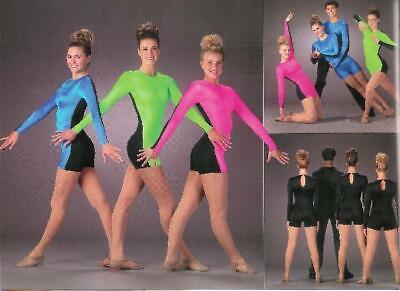 Flash Biketard Acro Jazz Tap Dance Costume Gymnatstics Child & Adult Sizes