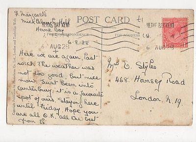 Mrs E Styles Hornsey Road London N19 1928  301a