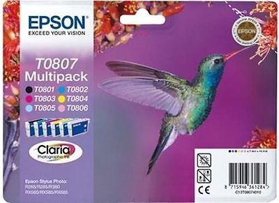 6 Epson Druckerpatronen original Tinte T0807 BK / C / M / Y / LC / LM Multipack online kaufen