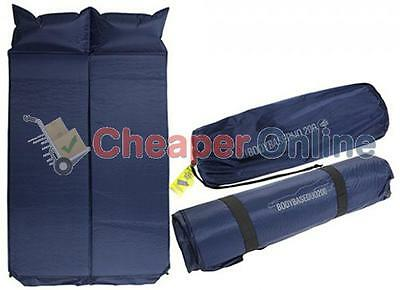 Double Self Inflating Camping/Guest Mattress with Built-in-Pillow