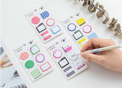 180-page Planner Schedule Marker Memo Sticky Notes Bookmark Tab Bullet Journal