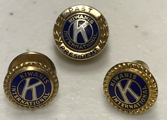 Kiwanis International Past President 14k Gold Pin Gold Colored Tie Tacs