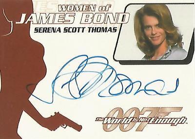 "James Bond Quotable WA18 Serena Scott Thomas ""Dr Molly Warmflash"" Autograph Card"
