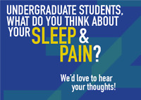 Amazon card: Online focus groups with undergrads: Sleep & Pain