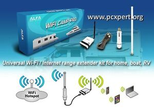 Wi-Fi booster Kit For Camping, Boat, Everything included !