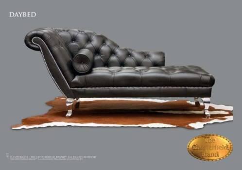 Daybed sofa chaise longue van leer banken sofa 39 s en chaises longues - Chesterfield chaise longue ...