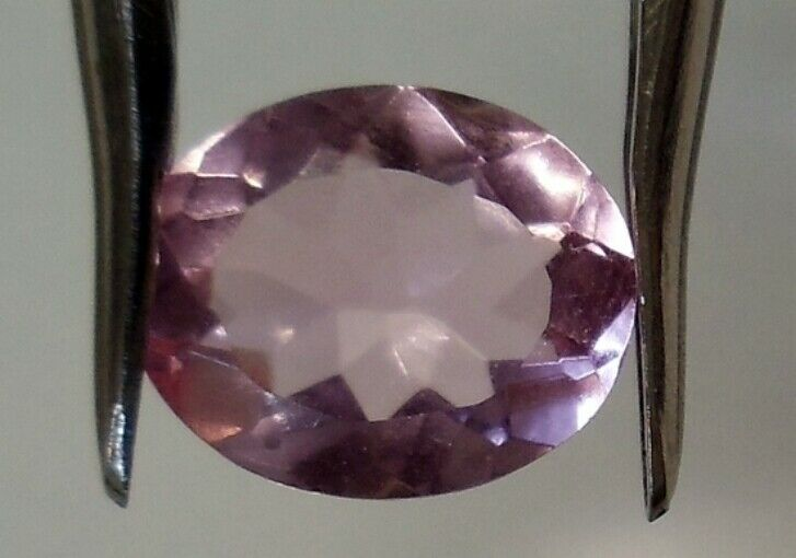 SIMULATED MORGANITE 9 x 7 MM OVAL CUT BEAUTIFUL PINK COLOR