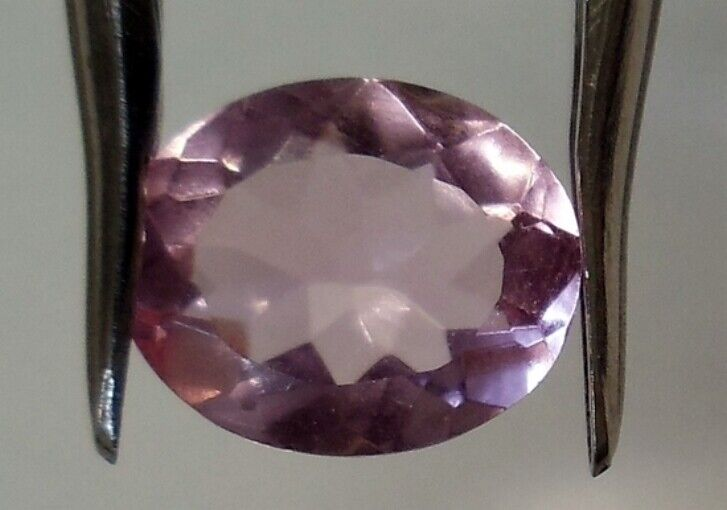 SIMULATED MORGANITE 11 x 9 MM OVAL CUT BEAUTIFUL PINK COLOR