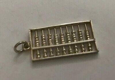 Vintage Retro 925 Sterling Silver 925 Child Toy Counting Abacus Charm Pendant O