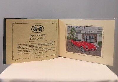 VTG Jaguar Daimler Heritage Trust Jaguar E Type Silk Woven Picture J&J Cash Ltd