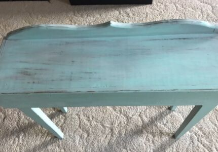 Solid pine refurbished table