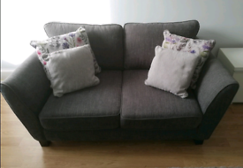 2 seater dark grey Canterbury Sofology fabric sofa