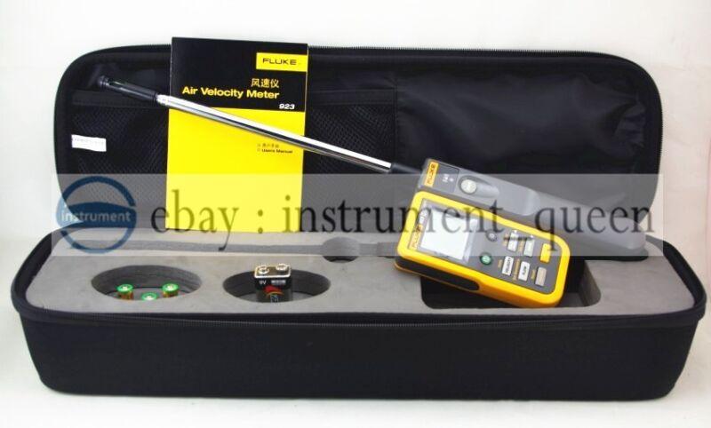 Fluke 923 Air Velocity Meter Hotwire Anemometer Detachable Handhel