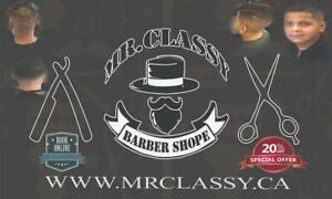 Get 20% off Mr.Classy  BARBERSHOP