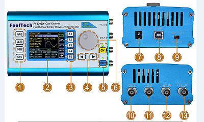 FY2300 20MHz DDS Arbitrary Waveform Dual Channel Signal Generator Sinewave Squar