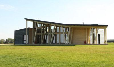 Laminated Log House Kit Ecofriendly Prefab Diy Building Home Cabin Kit 2102sq.ft