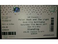 Peter hook and the light tickets 11/3/17