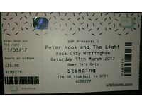 Peter hook and the light 2 tickets 11/3/17