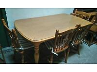 Heatproof table and 4 chairs