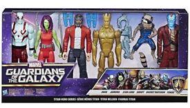 marvel guardian of the galaxy titan hero series 6 x 12in figures brand new