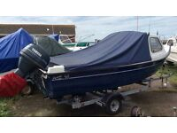 (under offer) Orkney 520 fishing boat - Yamaha 30hp four stroke and Orkney roller coaster trailer