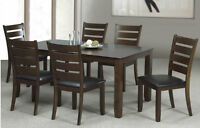 SAMANTHA BRAND NEW SOLIDWOOD TABLE WITH CHAIRS ON SALE
