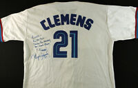 Roger Clemens Signed Blue Jays Jersey with inscription