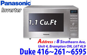 * Panasonic 1.1 Cu.Ft.Grill Microwave (NNGD693S) Stainless Steel