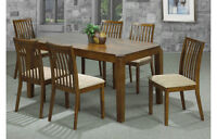 Solid wood dining set TABLE & 6 CHAIRS NEW Clearance