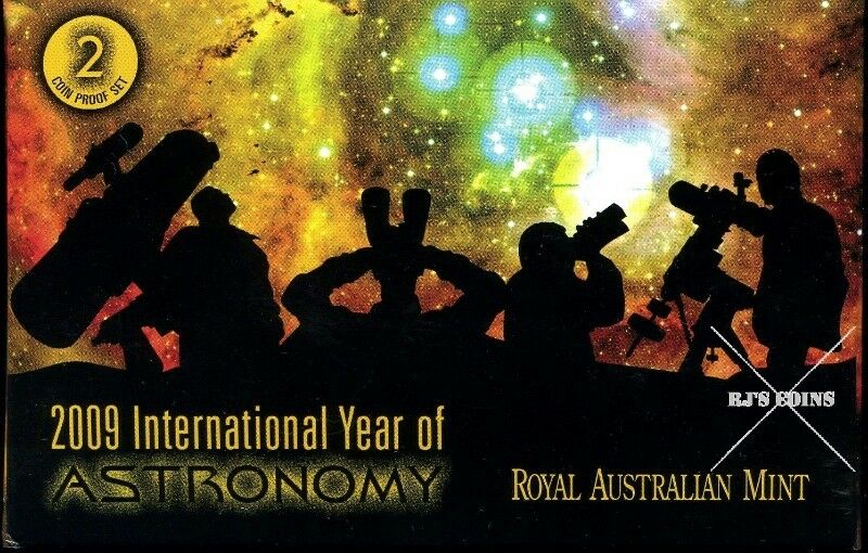 "Australian 2009 International Year of Astronomy ""Two Coin"" Proof Set from the Royal Australian Mint"
