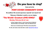 Sing with the Port Dover Community Choir