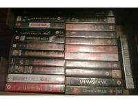 60 vhs video tapes.Drama,horror,comedy,tv,childrens etc