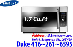 Stainless ME179KFETSR Over-The-Range Samsung 1.7 Cu.Ft Microwave