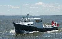 Converted lobster fishing boat. For sale by owner.