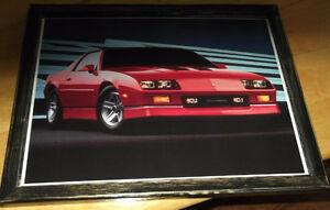 1985 Chevy Camero IROC pic - mounted,ready to display